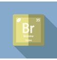 Chemical element Bromine Flat vector image