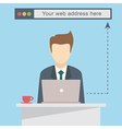 Businessman with laptop vector image