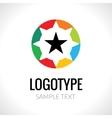 Abstract logo concept star vector image