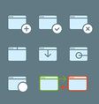 Different web browser icons set with rounded vector image