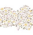 barberry pattern seamless floral texture with vector image