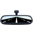 Car mirror and the road-4 vector image