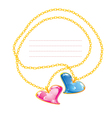 Golden Jewellery Chains vector image