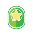 green star army badge vector image