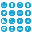 Hockey icon blue vector image