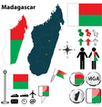 Madagascar map vector image
