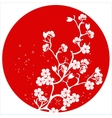modern japanese cherry blossom template vector image