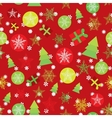 Seamless pattern Merry Christmas Card red green vector image