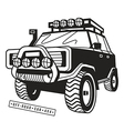 Stock off road car vector image