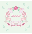 summer wreath vector image
