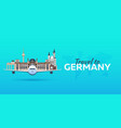 travel to germany airplane with attractions vector image