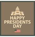 Happy President Day vector image vector image
