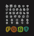 cartoon style alphabet clip-art comic type on vector image