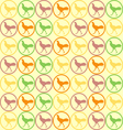 seamless Cock Chicken pattern vector image