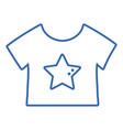 silhouette baby t-shirt and textile clothes vector image