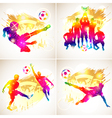 Soccer Silhouette vector image
