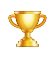 Winner Gold Cup on White Background vector image