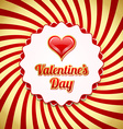 Valentines day badge vector image