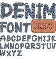 denim font vector image