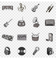 Music set icons vector image