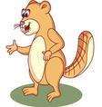 beaver cartoon vector image vector image