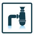 Bathroom siphon icon vector image