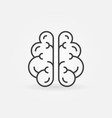 brain line icon - intelligence symbol or vector image