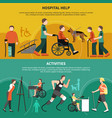 disabled person banner set vector image