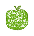 Hand drawn vintage motivational quote about health vector image