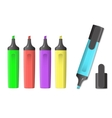image of markers vector image