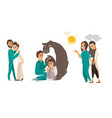 medical help for people with mental disorder vector image