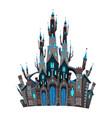 medieval fantasy castle vector image