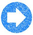 right arrow grunge icon vector image