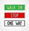 Set of signboard motivation vector image