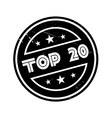 Top 20 rubber stamp vector image