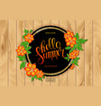 colorful floral frame for sale summer season vector image