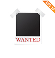 Photo frame with wanted text - - EPS10 vector image