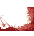 red bougenvilia background vector image