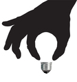 Light Bulb Idea Concept with Hand vector image vector image