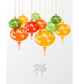 Colorful chinese zen lamps vector image vector image