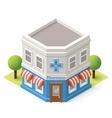 isometric drugstore vector image vector image