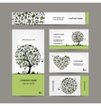 Fishing business cards set for your design vector image