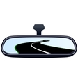 Car mirror and the road-3 vector image