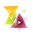 Shiny glass triangle web box vector image vector image