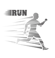 Man of side running sport concept graphic vector image