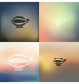 airship icon on blurred background vector image