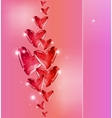 Bubbles Of red Hearts vector image