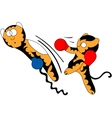 cartoon tiger cub cute young martial arts vector image