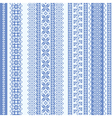 embroidery seamless pattern vector image