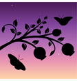 evening vector image